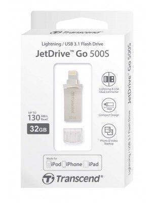 TS32GJDG500S32GB JetDrive Go 500 Silver Plating