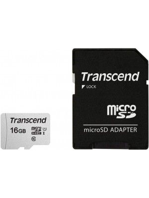 TS16GUSD300S-A 16GB UHS-I U1 microSD with Adapter