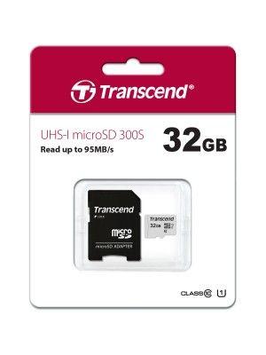 TS32GUSD300S-A 32GB UHS-I U1 microSD w Adapter