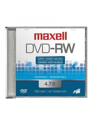 DVD-RW DVD REGRABABLE 4.7GB 2HRS 2X