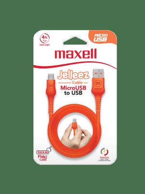 CB-JEL-MICRO-4FT  USB TO MICROB JELLEZ ORANGE